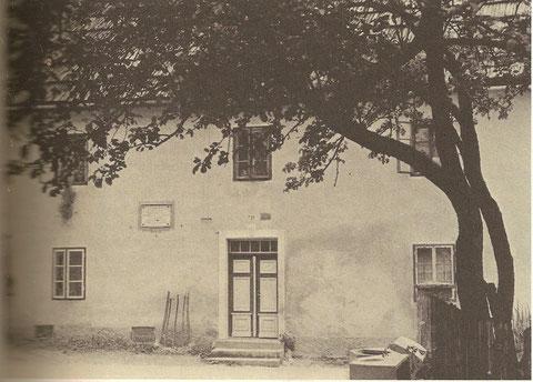 Historische Aufnahme von Oitzingers Haus