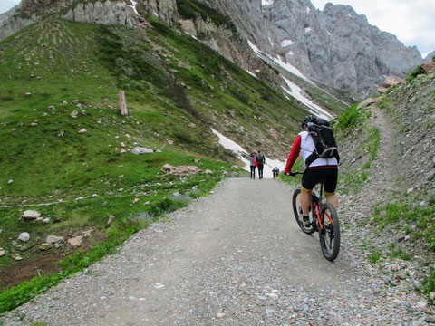 Wolayersee, Karnische Alpen, Mountenbike, E-Bike