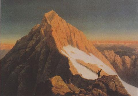 Das berühmte Gemälde von Markus Pernhart (1824-1871) zufällig fotografierte ich an der selben Stelle