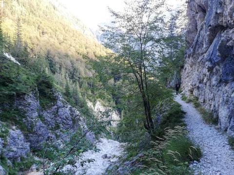 Kriz Seen, Triglav Nationalpark, Trenta, Julische Alpen, Zadnjica, wandern