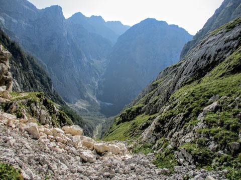 Luknja, Triglav, Trenta, Julische Alpen, Zadnjica, Wandern