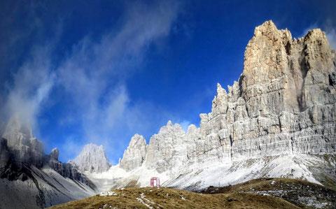 Das Amphitheater um den Campanile di Val Montanaia - eines der schönsten Landschaftsbilder unserer Alpen