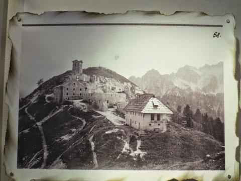 Luschariberg, Maria Luschari, zerstört, 1. Weltkrieg