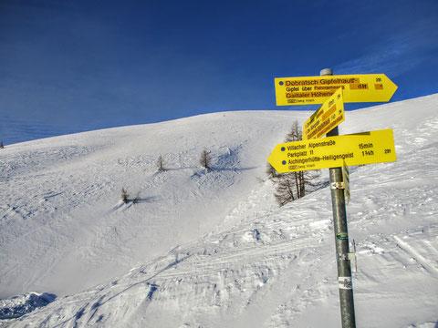 Dobratsch, Villacher Alpe, Julische Alpen, Wegweiser