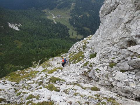 """Abstieg vom """"Zuc"""" zum Lanzenpass"""
