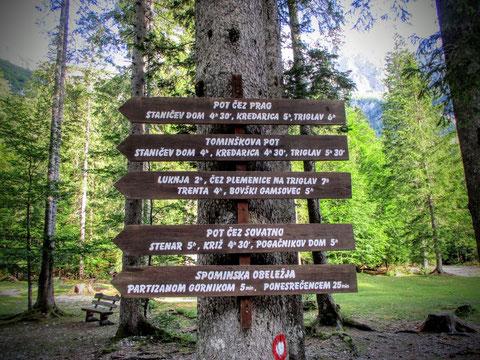Wegweiser, Julische Alpen, Triglav