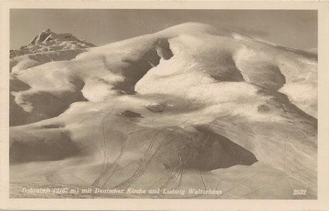 Auch im Winter 1933 war der Dobratsch bei den Skifahrern beliebt