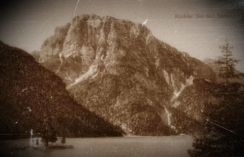 Raibler See mit Seekopf fast 100 Jahre früher im Jahre 1916