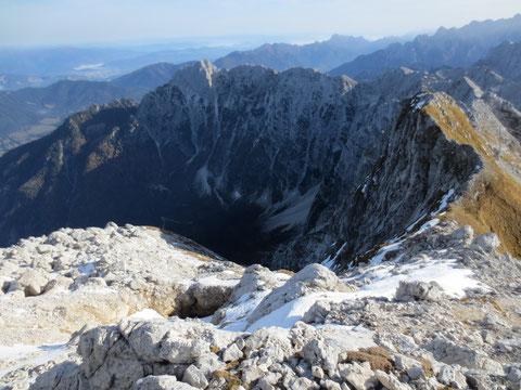 Der Ponza-Zug mit der höchsten Erhebung Hohe Ponza (Ponza Grande, Visoka Ponca) 2.274m