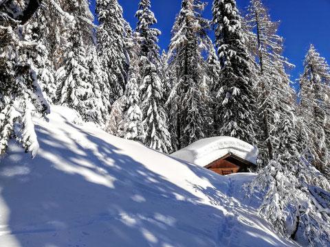 Schwarzkogel, Karawanken, Skitour, Schnee
