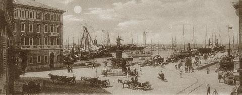 Das geschäftigeTriest im Jahre 1898