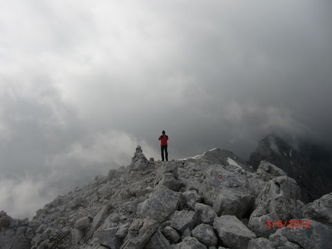 Auf dem Gipfel der Hohen Ponza 2.272m