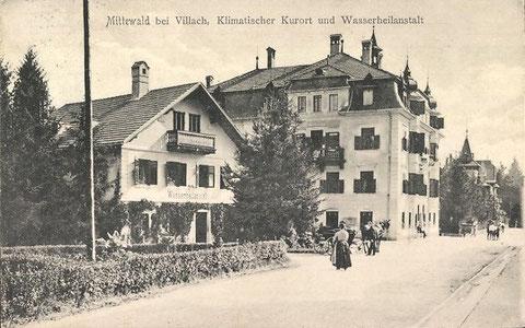 Mittewald  bei Villach,  Klimatischer Kurort, 1910