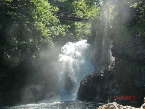 Rotweinklamm Wasserfall