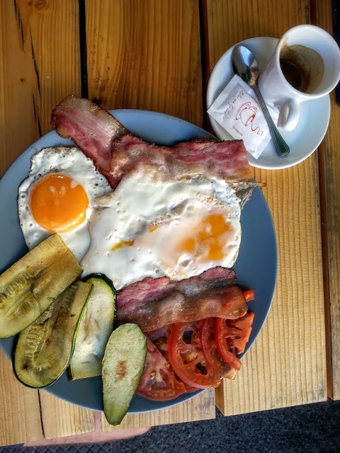 Frühstück in Kobarid