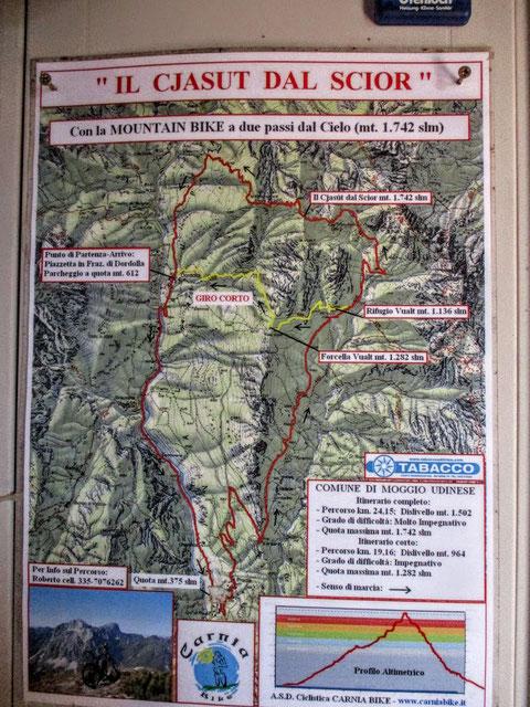 Val Alba, Moggio, Wandern, Karnische Alpen, Cjasut dal Scior, Mountainbike