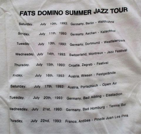 Fats Domino, Konzert Pörtschach 1993