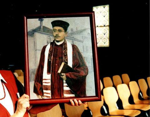 Bild von Leon Schmalzbach in der Synagoge, Foto: U.Hentsch, alle Rechte vorbehalten!