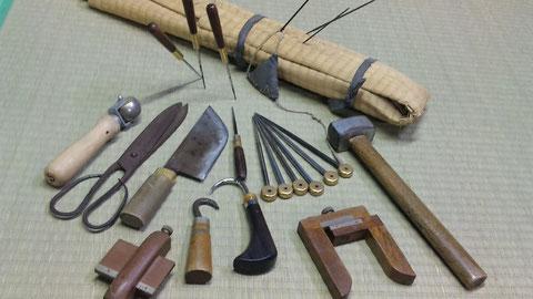 畳屋の道具