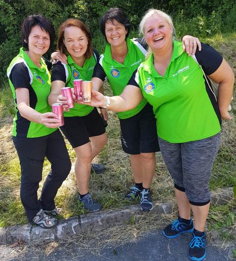 4.Platz bei der LM-Damen am 02.Juni Pöllau Burgi,Sabine K.Sabine A. und Karin.