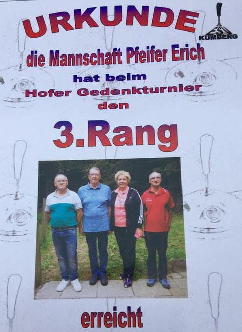 Die Schützen Erich,Stefan,Berta und Gaby.
