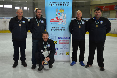 3.Platz bei der LM.in Hart/Graz am03-02-19 Erich,Günther,Horst,Franz u.Harry.