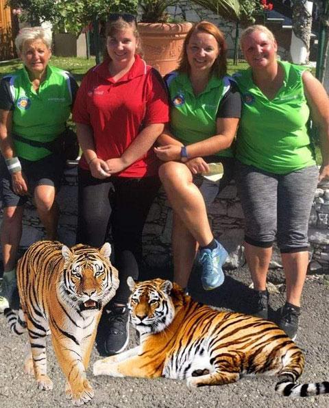 Unsere Damen kämpften wie Tiger um jeden Punkt.Heidi,Laura,Sabine und Karin