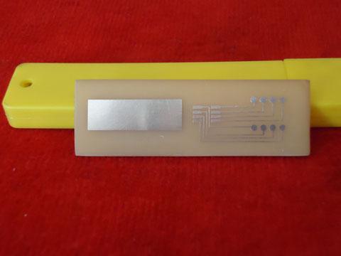 Circuito Impreso Adaptador para grabar memorias smd