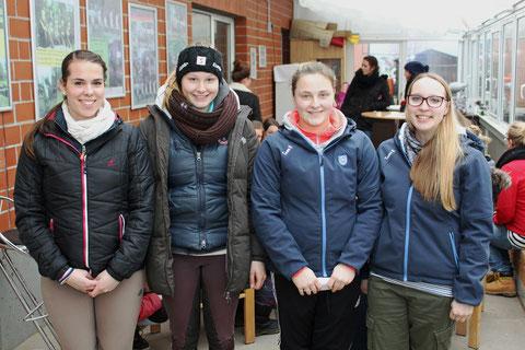 Sind ab jetzt für die Belange der jugendlichen Vereinsmitglieder zuständig: v.l.n.r.: Isabelle Knollmann, Etiene Tjeerdsma, Alicia Witte und Alissa Bulk. Bild: Braun