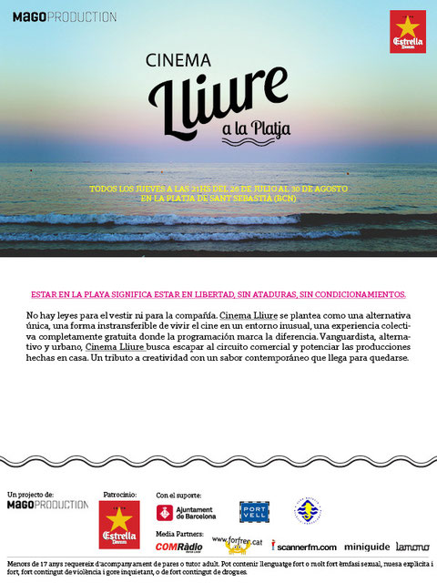 cine en la playa de Barcelona