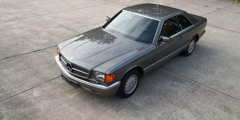 Mercedes 500SEC C126 deutsch, 1. Hand *VERKAUFT*
