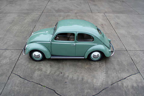 "VW Brezelkäfer Export   Typ 11C  1951 ""Rheumaklappe"""