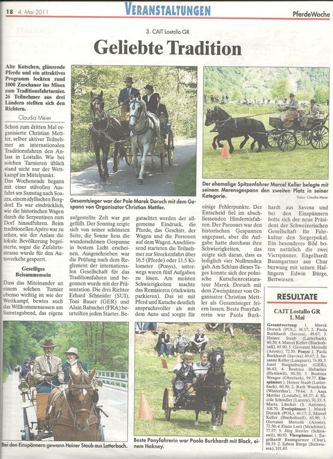 Articolo rivista Pferdewoche
