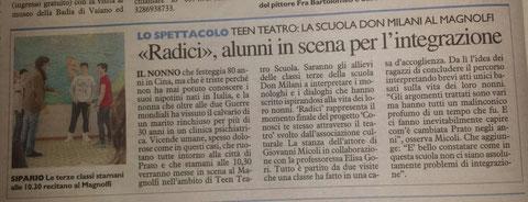 La Nazione Prato - Radici -  28 Maggio 2014