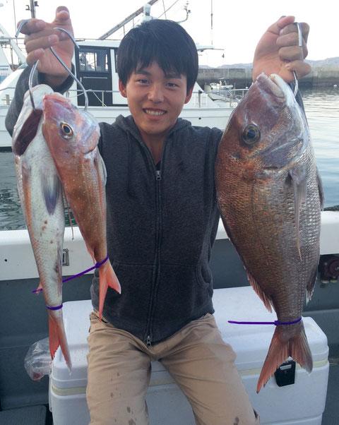お兄ちゃん!!良型3Fish&自己記録更新おめでとう!(^^♪