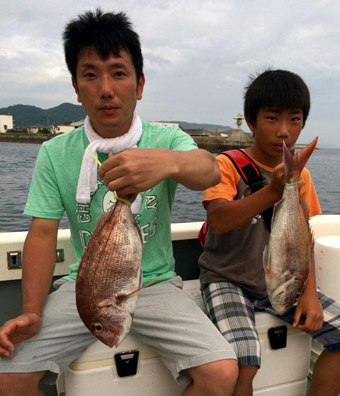 お父さん お兄ちゃん!!ナイスfish!!(^^♪