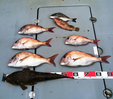 午前中テスト釣行です。昼前ぐらいから強風になりました。((+_+))
