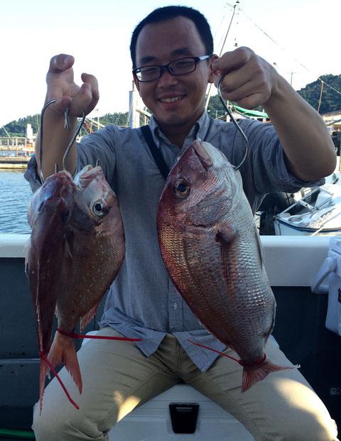 初タイラバで3Fish!(^^♪
