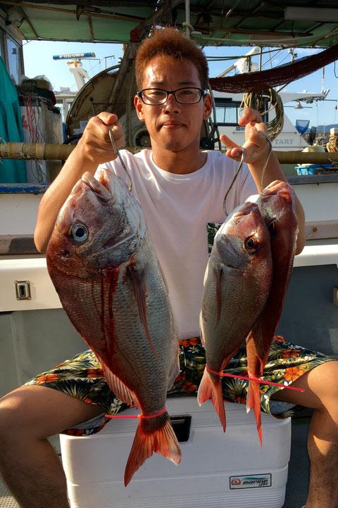 初タイラバで60オーバー頭の3Fish!