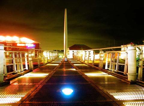 Die Brücke am Vegesacker Hafen