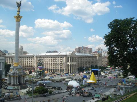 Der Kiewer Maidan im Juli 2014. Bild: Stefan Korinth