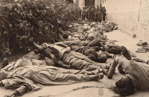 Höchstwahrscheinlich jüdische Opfer des Pogroms in Lwiw am 31. Juni und 1. Juli 1941.