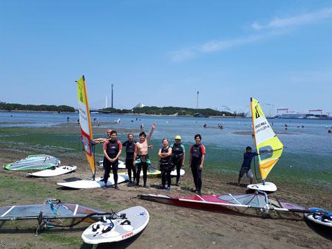 ウインドサーフィン スクール スピードウォール 体験 初心者 SUP 横浜 神奈川