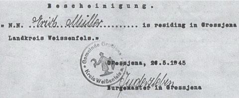 Wohnortbescheinigung (Quelle Foto: Müller Hans-Peter)