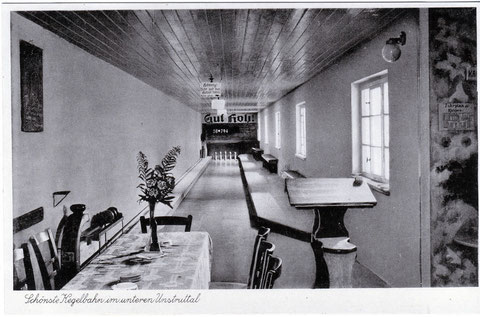 Kegelbahn um 1931
