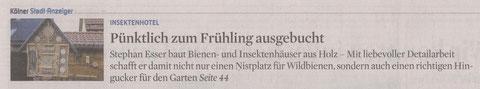 Pressebericht im Kölner Stadtanzeiger vom 04.04.2012