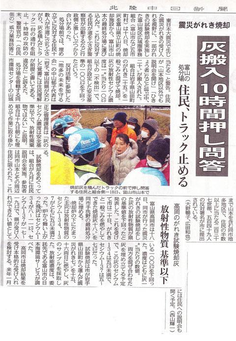 北陸中日新聞2012.12.19