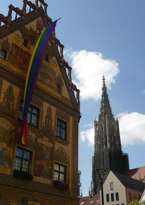 Ulm unter der Regenbogenfahne
