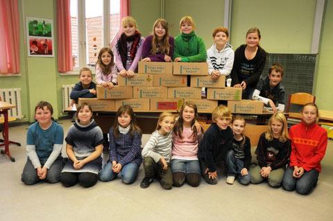 Klasse 4b der Marktschule Quedlinburg im November2011