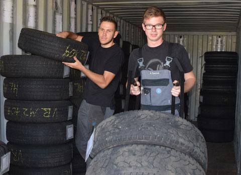 Radlager & Reifencontainer: im Autohaus Feinaigle Reifen lagern